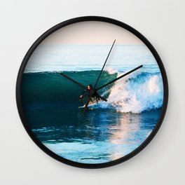 Warm Surf Wall Clock