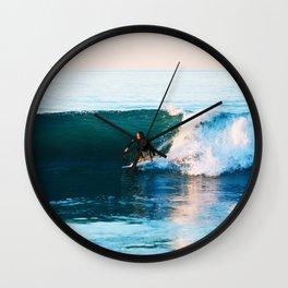 Warm Surf Wall Clock
