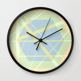 Crossroads ll - color hexagon Wall Clock