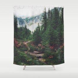 Mountain Trails Shower Curtain