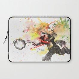 Mario Throwing Fireball Laptop Sleeve