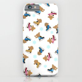 makkachin yuri on ice skate pattern iPhone Case