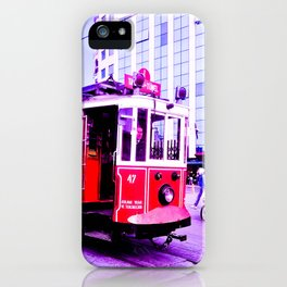 Red tram. iPhone Case