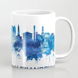 Alexandria Egypt Skyline Blue Coffee Mug