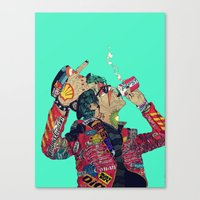 boneface Canvas Prints featuring Enemy by boneface