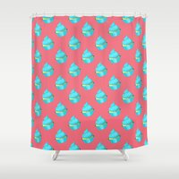 cupcake Shower Curtains featuring Cupcake by tiffato3