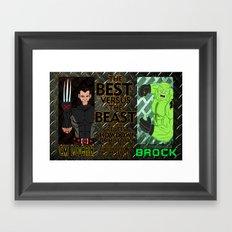 CM Logan VS. The Incredible Brock Framed Art Print