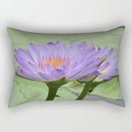 Blue Water Lilies in Hangzhou Rectangular Pillow