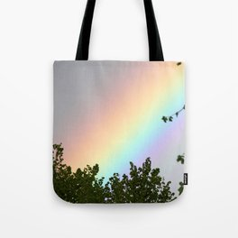 Pastel Natural Rainbow Tote Bag