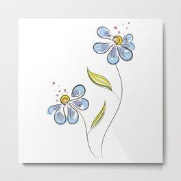 Drunken Flower Metal Print