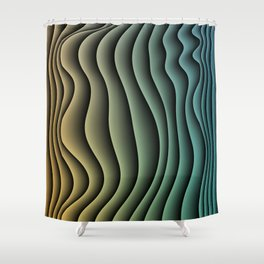 Split Infinities Shower Curtain