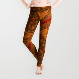 Diagonal Abstract Psychedelic Doodle 9 Leggings