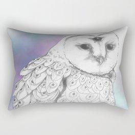 Owl with a third eye and crystal ball Rectangular Pillow