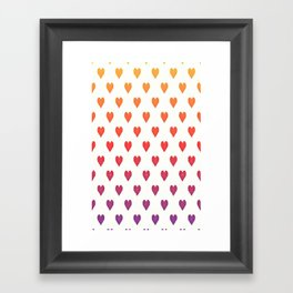 POP heART Framed Art Print