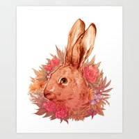 hare Art Prints featuring Hare by batcii