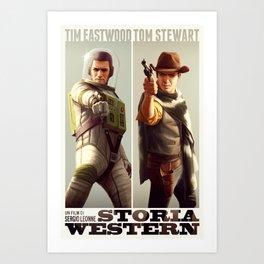 Storia Western Art Print