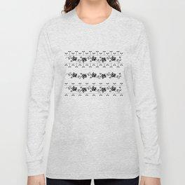 Traditional Romanian folk art knitted embroidery pattern Long Sleeve T-shirt