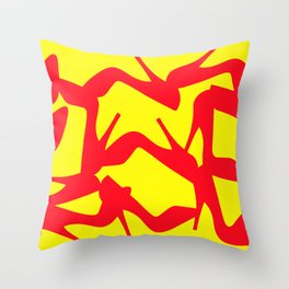 Shoe Fetish (Version 2) in Red and Yellow by Bruce Gray Throw Pillow