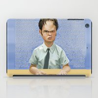 dwight schrute iPad Cases featuring Dwight by Richtoon