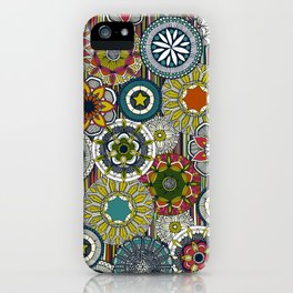 mandala cirque festival stripe iPhone Case