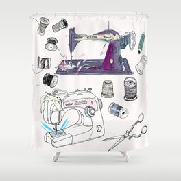 The Sewing Enthusiast Shower Curtain