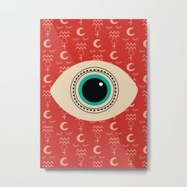 Crazy Eye Metal Print