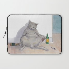 Drunk Kitty Laptop Sleeve