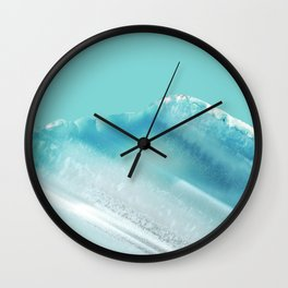 Geode Crystal Turquoise Blue Wall Clock