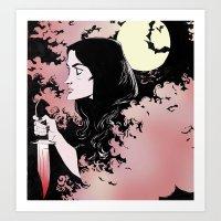 allison argent Art Prints featuring Allison Argent by KissingCullens