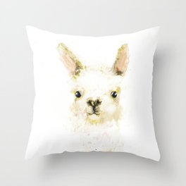 Digital Llama Throw Pillow
