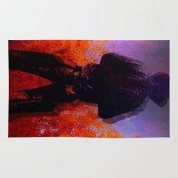 cowboy Area & Throw Rugs featuring Cowboy 2 by Ganech joe