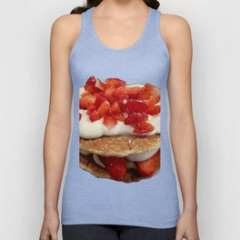 pancakes_strawberries_and_whip_cream Unisex Tank Top