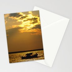 Fishing Boat Returns at Dusk Stationery Cards