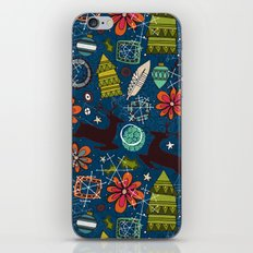 joyous jumble indigo iPhone & iPod Skin