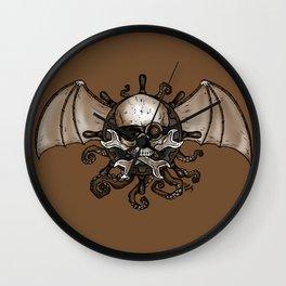 Airships and Tentacles SkullWheel Glyph Wall Clock
