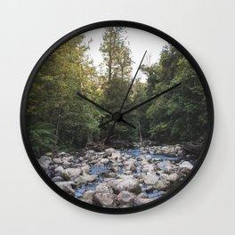 a waterfalls view Wall Clock