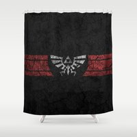 triforce Shower Curtains featuring TRIFORCE by Stagg Designs