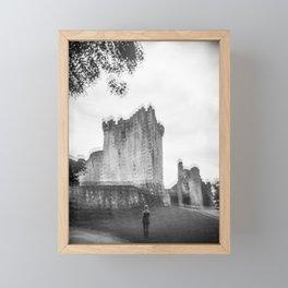 """""""The Ghost of Ross Castle"""" - Black and White Film Photograph taken in Killarney, Ireland Framed Mini Art Print"""