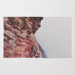 Person-like mountain formation Rug