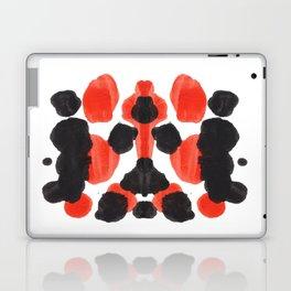 Red Orange & Black Ink Blot Diagram Laptop & iPad Skin