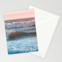 Beach Adventure Summer Waves at Sunset Stationery Cards