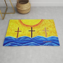 No Matter What Your Race Jesus Saves All By Grace By Annie Zeno Rug