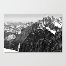 French Alps, Chamonix, France. Canvas Print