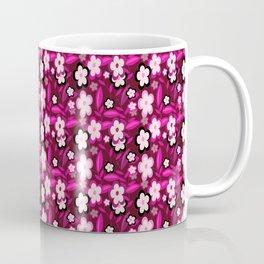 Pink Stylized Floral Coffee Mug