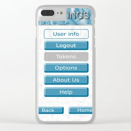 Picture of the interface with the image of 3D buttons for mobile Apps. Clear iPhone Case