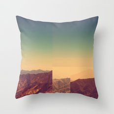 Mountains Clashed Throw Pillow