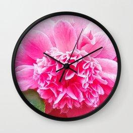 Pink Camelia  Wall Clock
