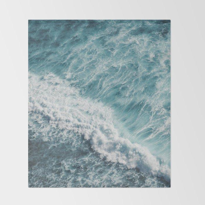 Saltwater Feelings Ocean Surf Throw Blanket