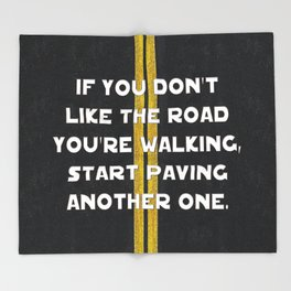 Pave Another Road Throw Blanket