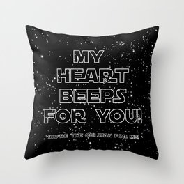 Star Crossed lovers 2 Throw Pillow